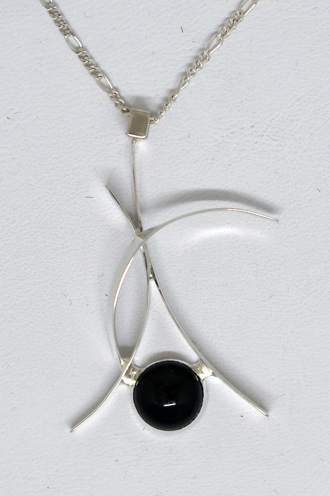 Black Onyx Curves Necklace