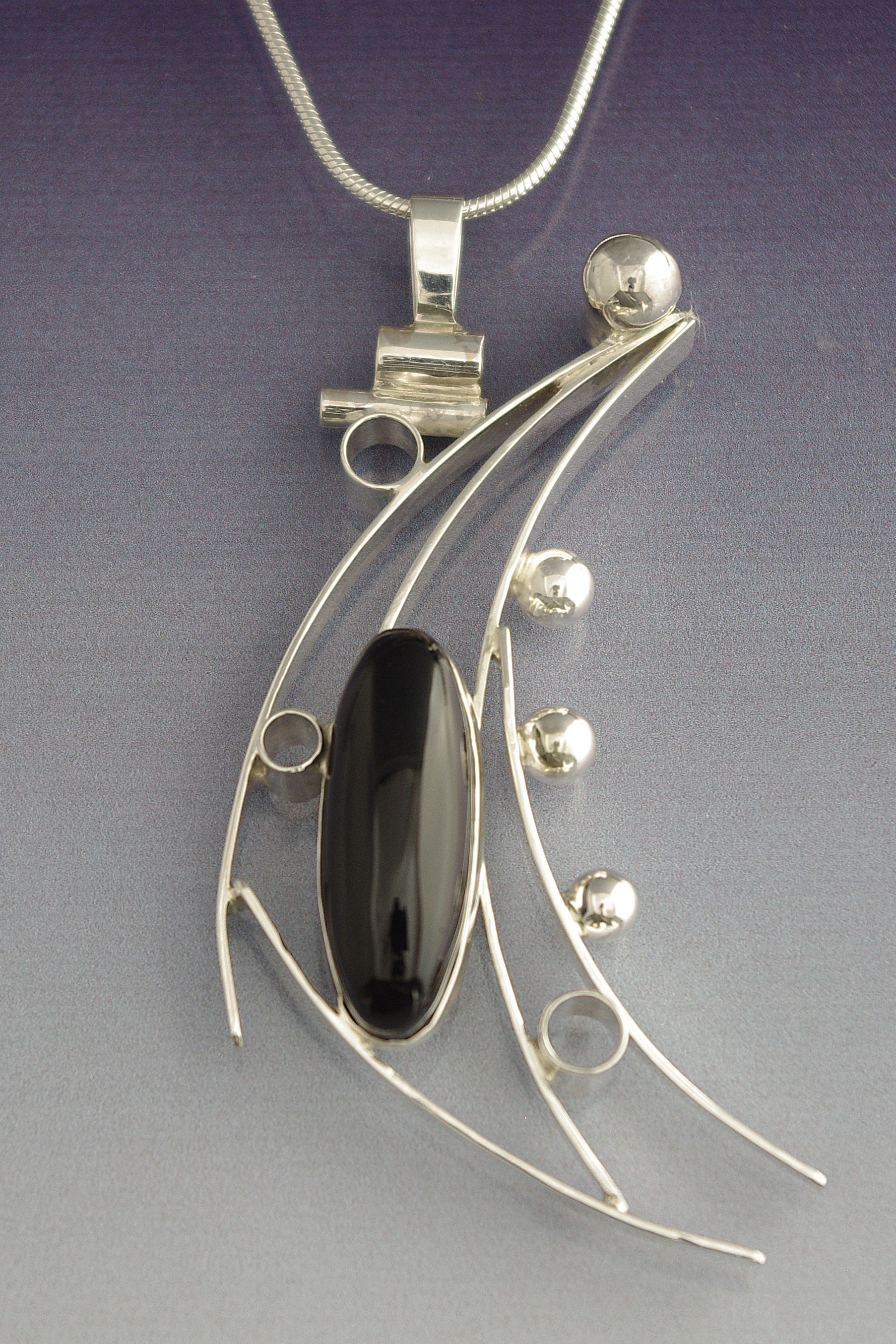 Black Onyx Abstract Necklace
