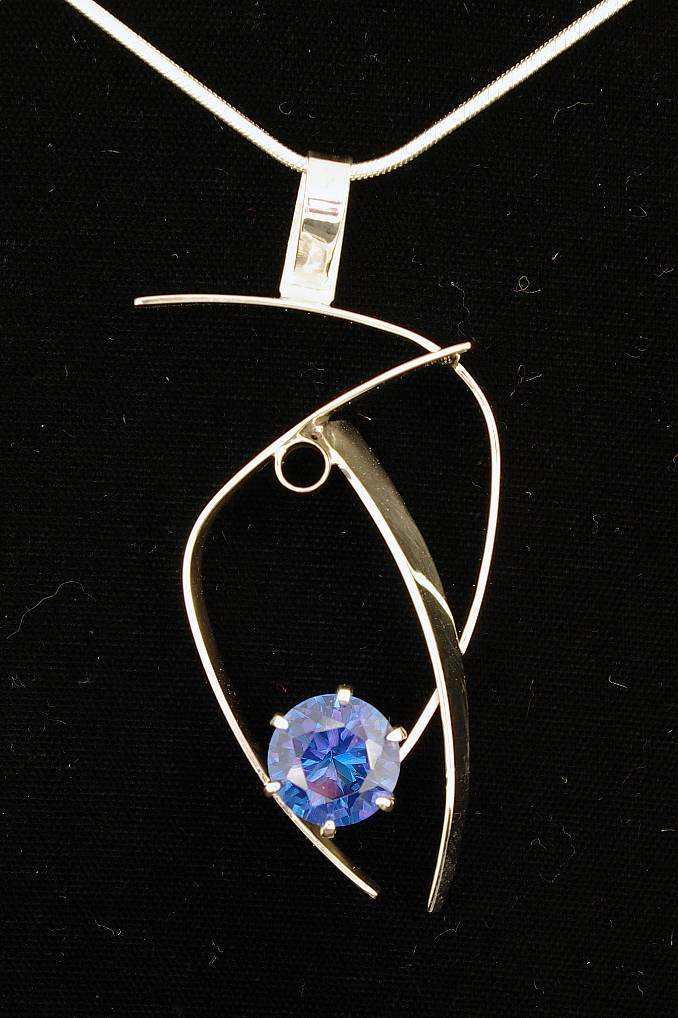 Blue Topaz Abstract Necklace