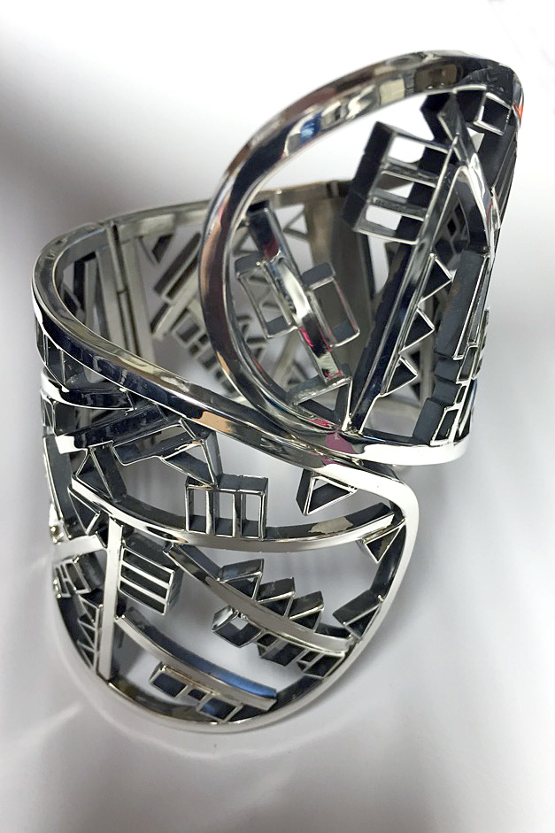 Geometric Wide Wrap Cuff Bracelet