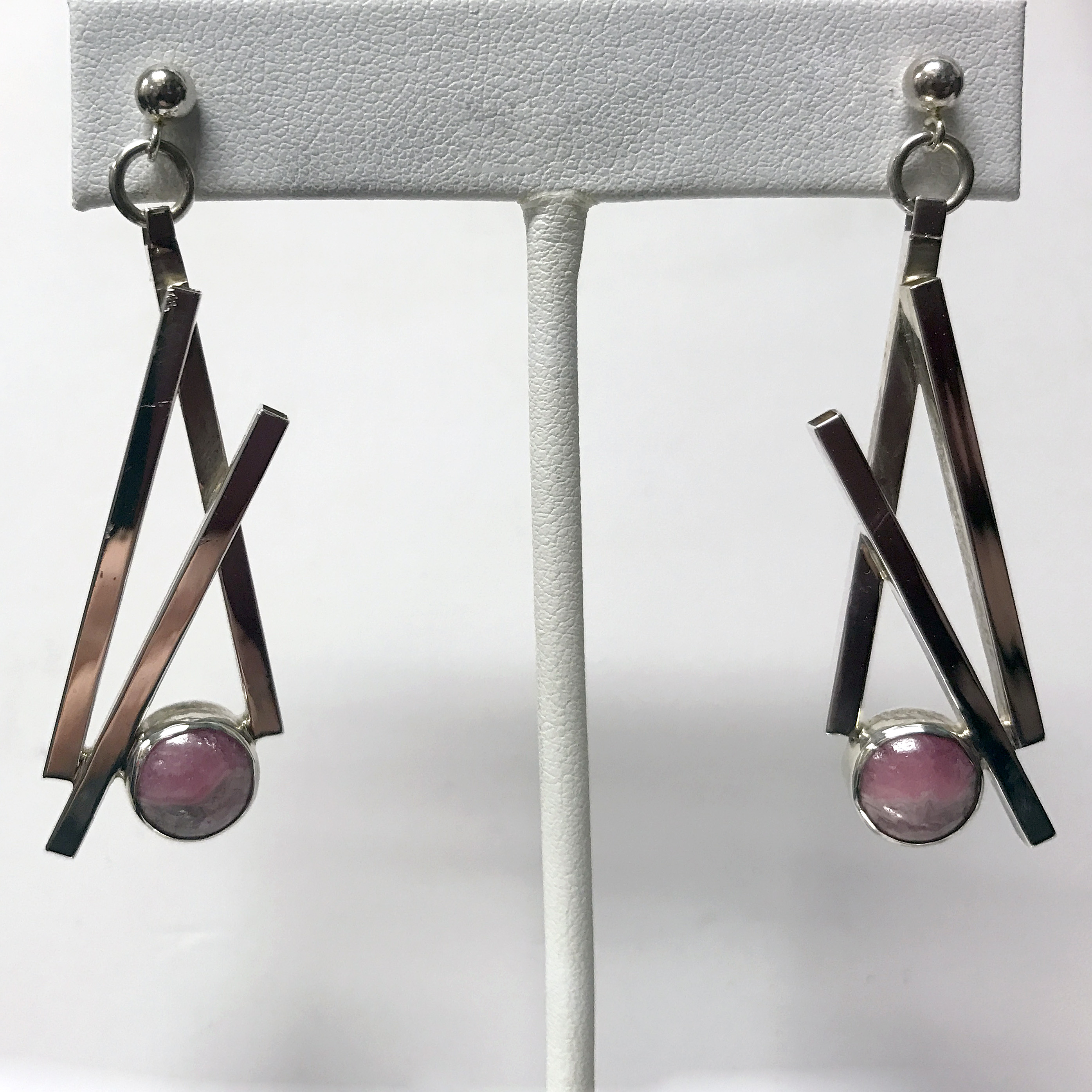 Rhodocrosite Dangle Earrings