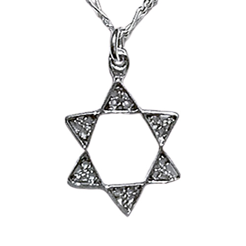 Filigree Star of David Necklace - Medium