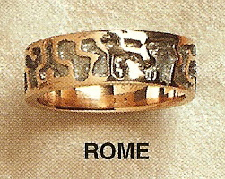 Rome Modernist Gold Ring