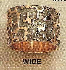 Wide Modernist Gold Ring