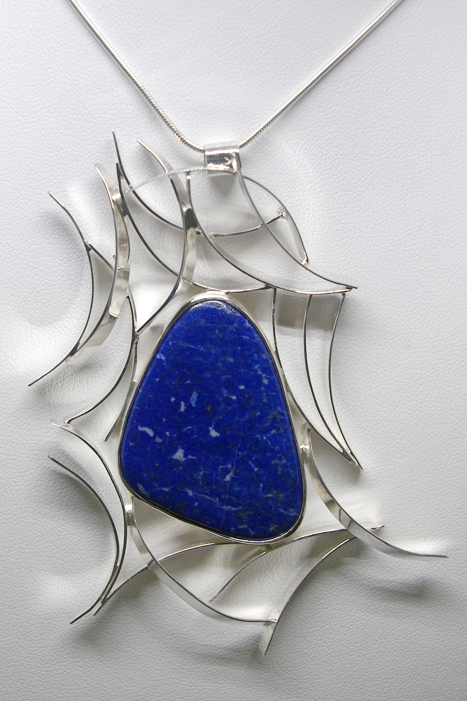 Lapis Web Necklace (LP-74)