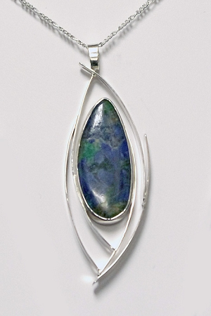 Azurite Modern Curves Necklace
