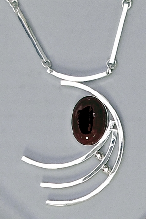 Black Onyx Asymmetrical Necklace
