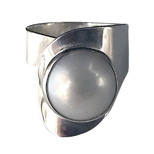 Pearl Modernist Ring