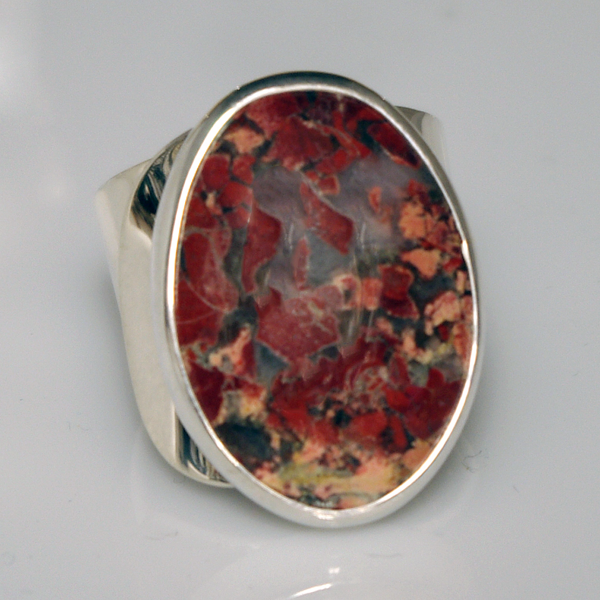 Poppy Jasper Modernist Ring