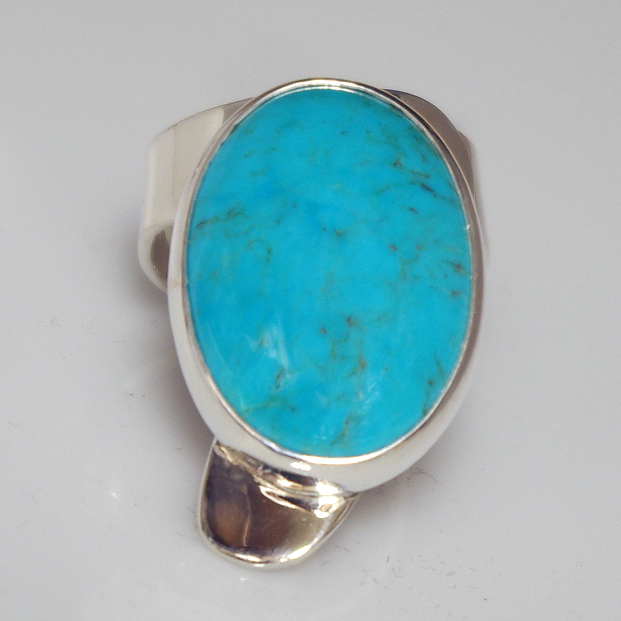 Oval Turquoise Modernist Ring