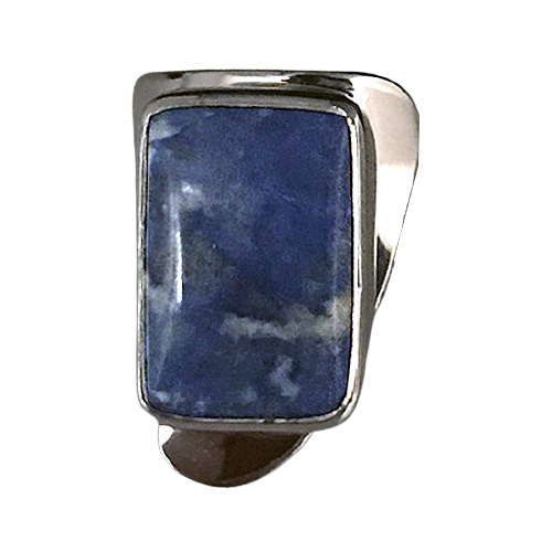 Freeform Lapis Modernist Ring (RM-35)