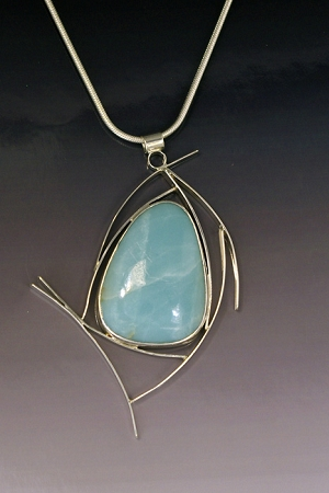 Amazonite Curves Necklace