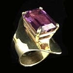 Alexandrite Sculptural Gold Ring