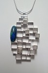 Azurite Architectural Necklace