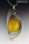 Copal Amber Textured Curves Necklace