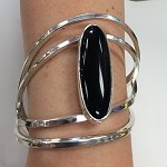 Black Onyx Airy Wrap Bracelet