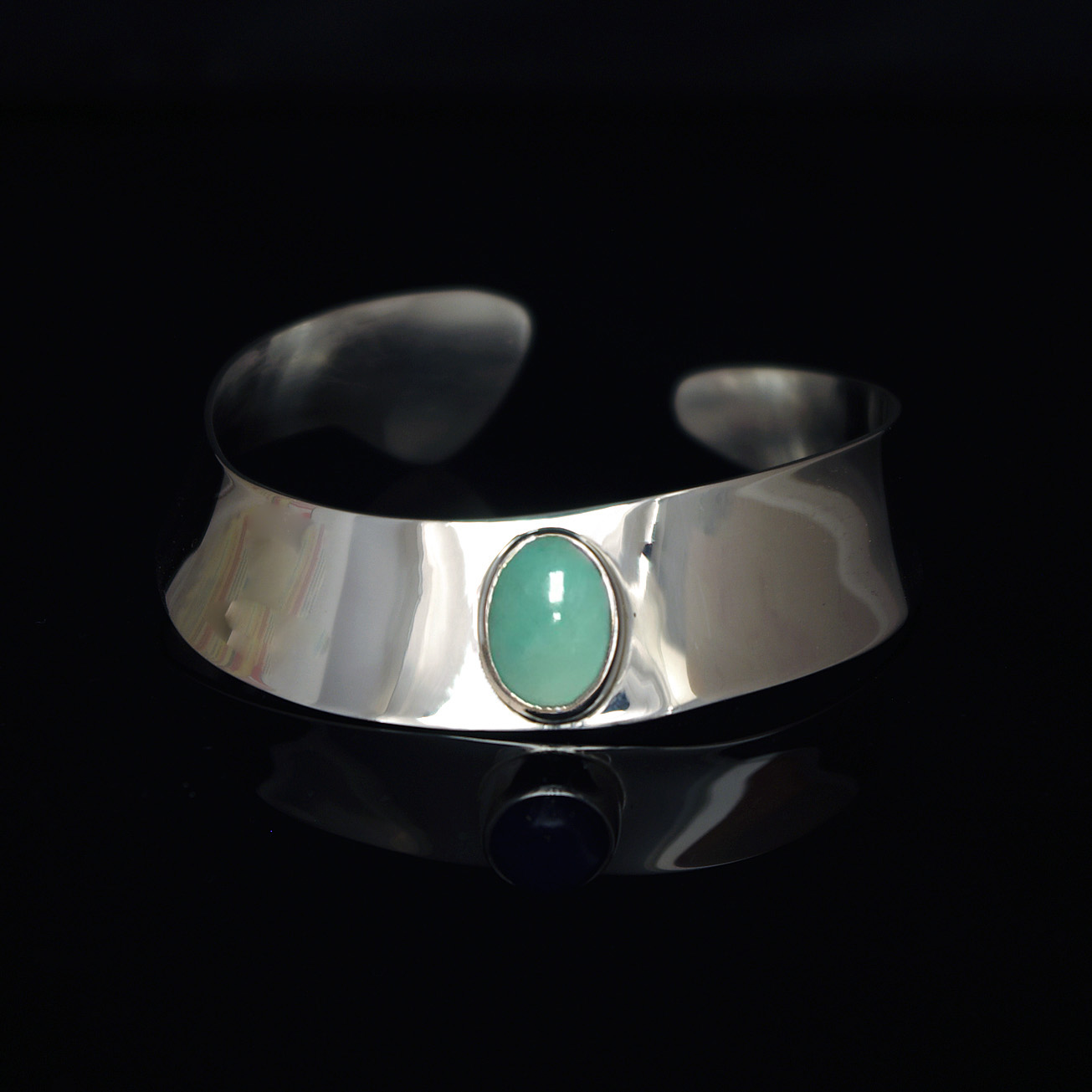 Turquoise Modernist Cuff Bracelet