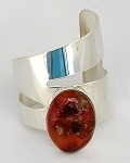 Baltic Amber Modernist Wide Cuff Bracelet