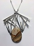 African Queen Jasper Linear Necklace