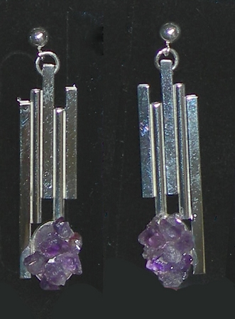 Amethyst Dangle Earrings (E-11)