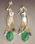 Malachite Dangle Earrings (E-244)