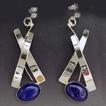 Lapis Dangle Earrings (E-269)