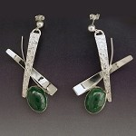 Malachite Dangle Earrings (E-272)