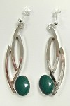 Malachite Dangle Earrings (EB-6)