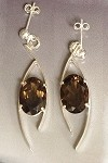 Smoky Topaz Dangle Earrings