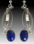 Lapis Dangle Earrings (E-221)