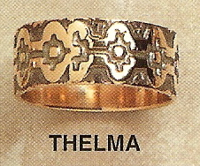 Thelma Modernist Gold Ring