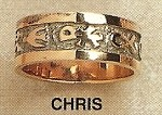 Christian Symbols Gold Ring