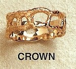 Crown Open Work Modernist Gold Ring