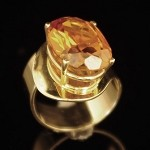 Oval Cut Citrine Gold Ring