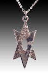 Modern Star of David Necklace