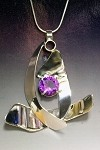 Dancing Silver Necklace with Alexandrite