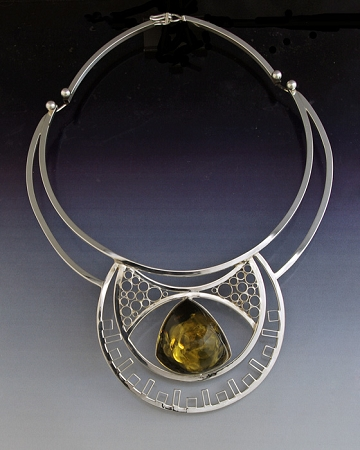 Green Amber Collage Collar (AMB-57)