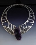 Geode Amethyst Statement Collar