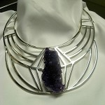 Geode Amethyst Art Deco Collar