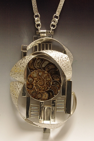 Ammonoid Fossil Collage Necklace