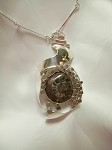 Ammonoid Fossil Bubble Necklace (B-70)