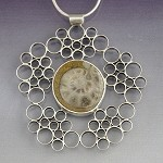 Ammonoid Fossil Bubble Necklace (HA-93)