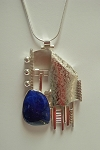 Lapis Collage Necklace