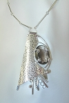 Smoky Topaz Textured Silver Necklace