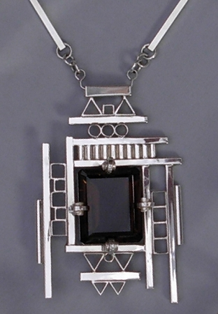 Smoky Topaz Cubist Necklace