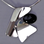 Black Onyx Modernist Pin/Pendant