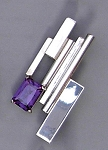 Cubism Pin/Pendant with Alexandrite