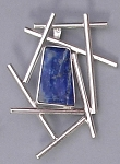 Linear Pin/Pendant with Lapis