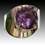 Modern Ring with Round Alexandrite