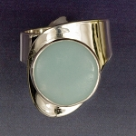 Amazonite Modernist Ring